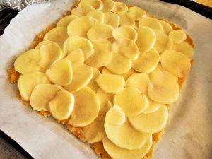 Gluten-Free Chickpea Flatbread in the making