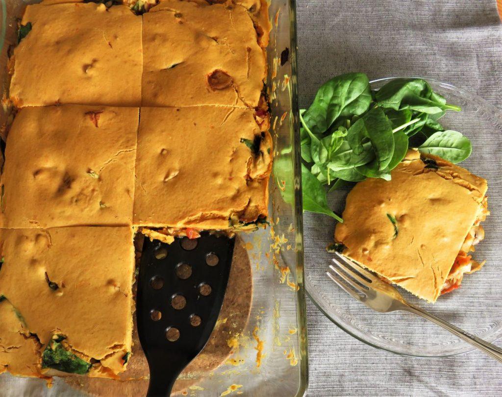 Vegan Mushroom & Spinach Frittata
