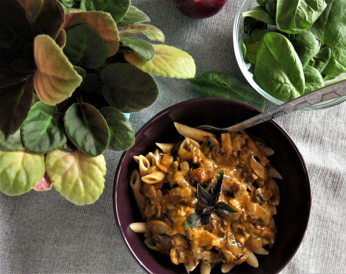Vegan Creamy Mushroom Pasta With Truffle Oil Vegan Foodiez
