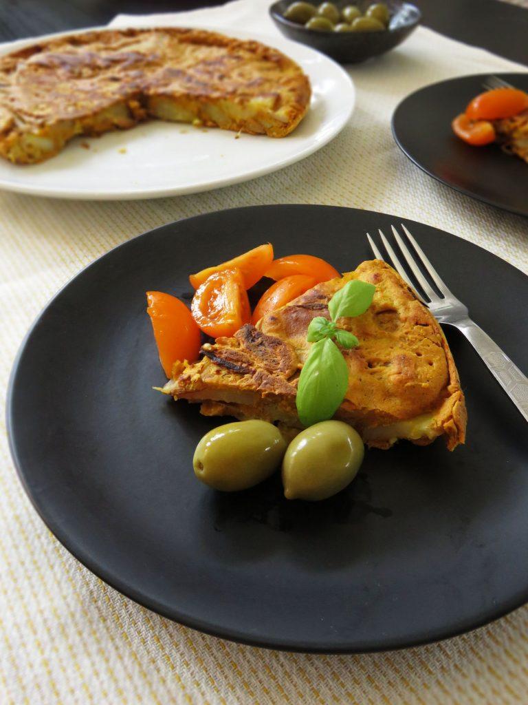 Vegan Spanish Chickpea Omelette