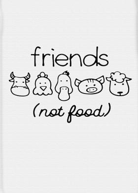 Friends Not Food Displate
