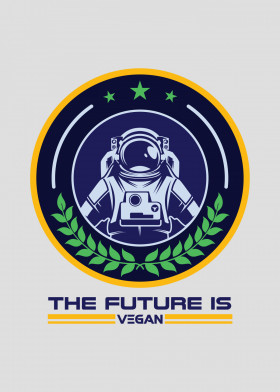 The Future is Vegan Displate