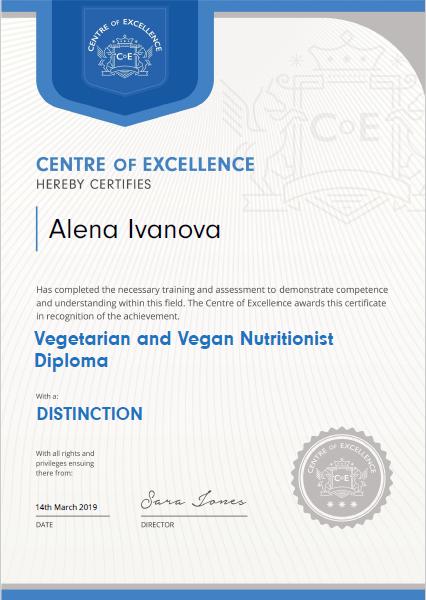Vegan Nutritionist Diploma