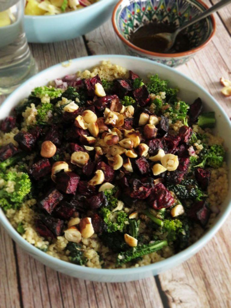 Quinoa Salad with Beetroots, Kale & Roasted Hazelnuts