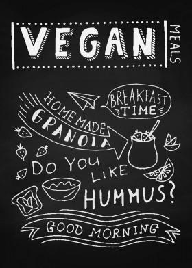 Vegan Blackboard Displate