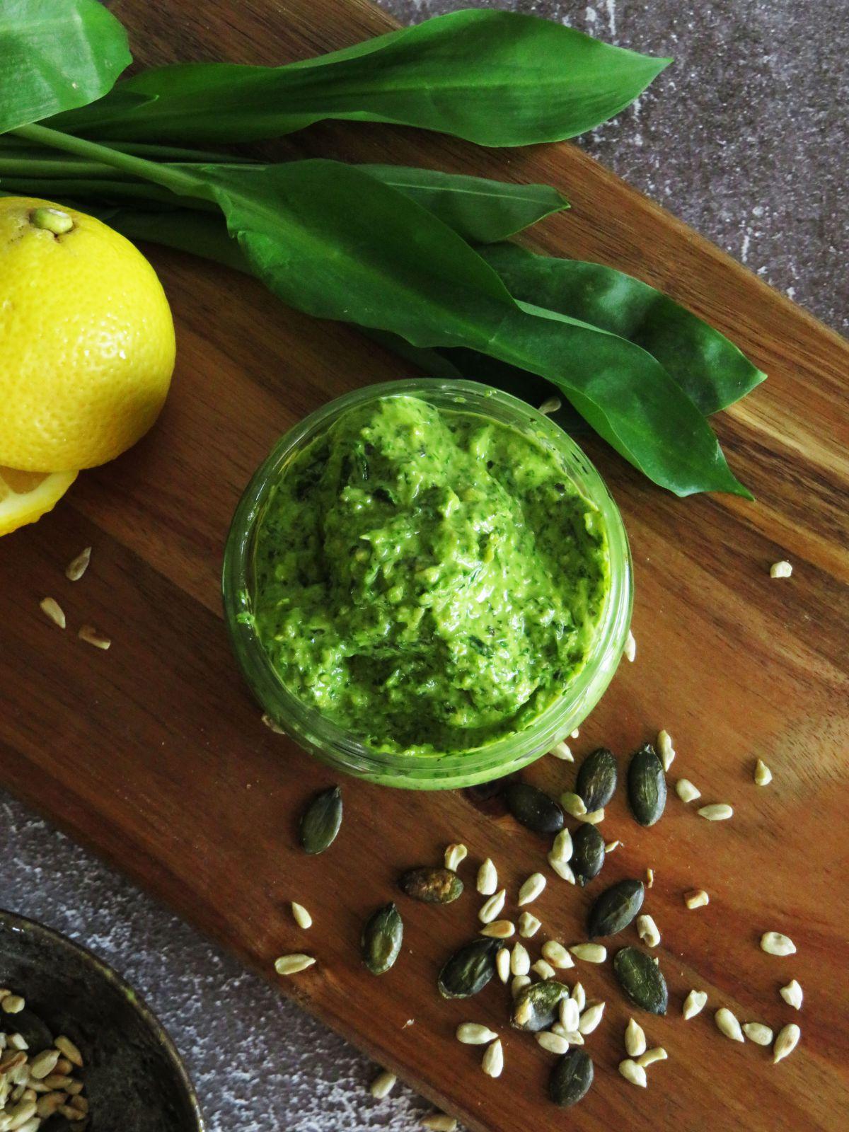 Vegan Wild Garlic Pesto