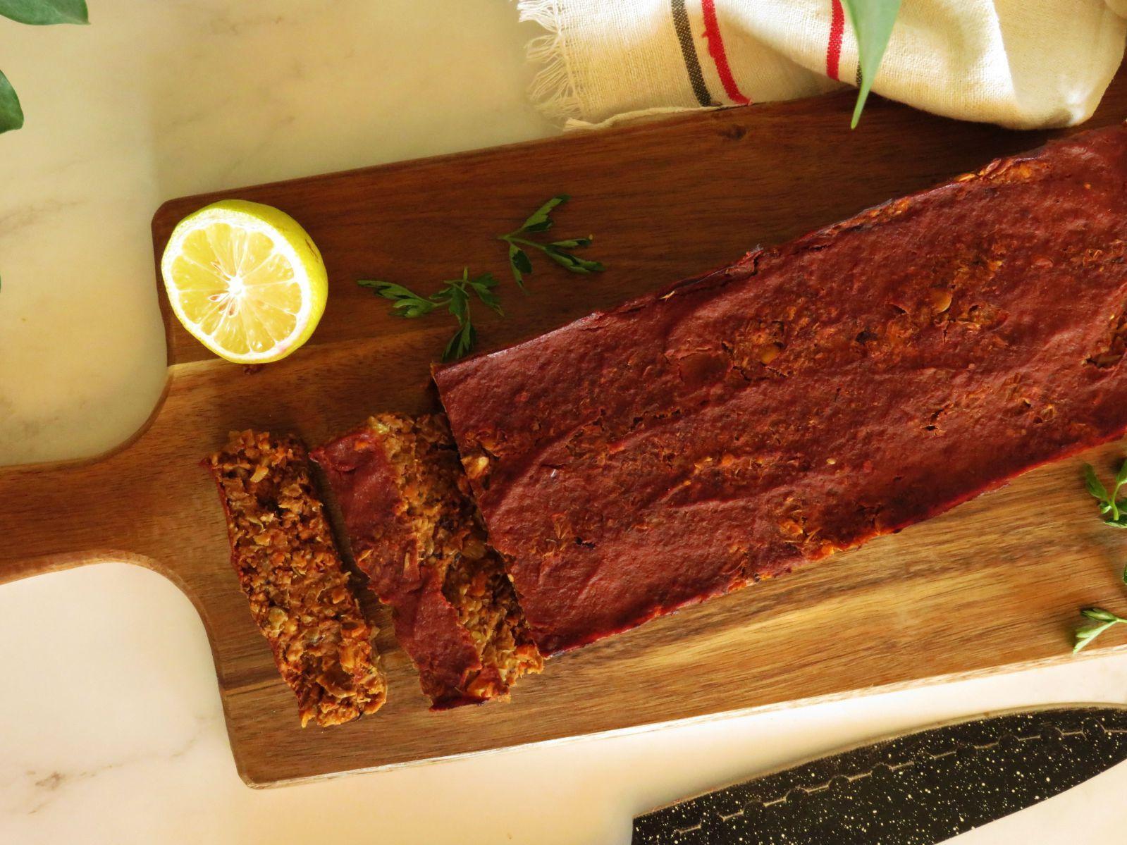 Vegan Lentil Loaf Recipe with Tomato Glaze