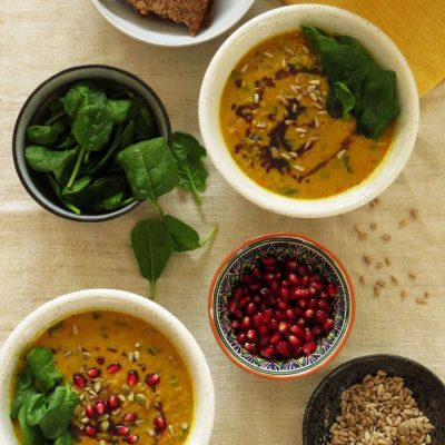 Pumpkin Curry with Red Lentils & Coconut Cream