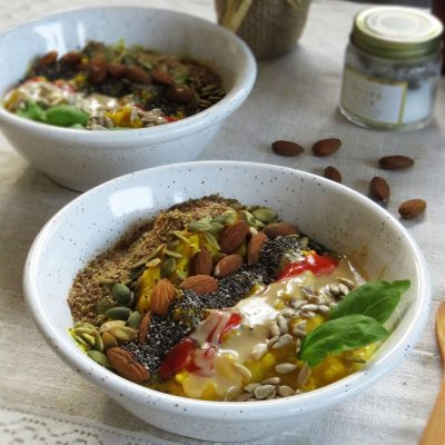 Creamy Golden Cornmeal Porridge with Turmeric