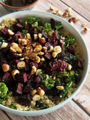 Kale Salad With Quinoa & Roasted Beets